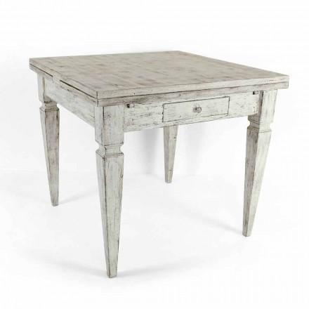 Roztažitelný řemeslný stůl až do 170 cm ve dřevě vyrobeném v Itálii - Marseille