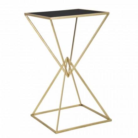 Moderní designový čtvercový barový stůl ze železa a skla - svižně