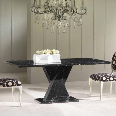 Jídelní stůl z černého mramoru, klasický design, 200x100 cm Byron