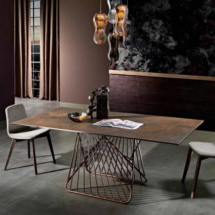 Moderní stůl se sklokeramickým povrchem vyrobený v Itálii, Mitia