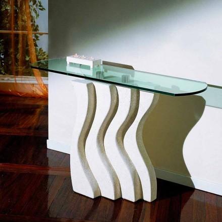 Konzolová deska z kamene a skla s moderním designem Ciril