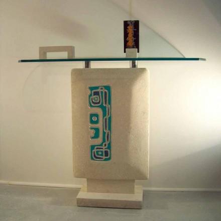 Obdélníkový stůl s konzolí Vicenza Stone ručně vyřezal Soter