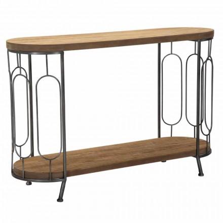 Moderní konzolový stůl v Iron and MDF - Trisha