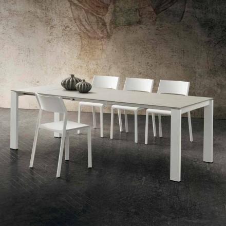 Roztažitelný kuchyňský stůl až do výšky 240 cm v drahocenné Hpl vyrobené v Itálii - Jupiter