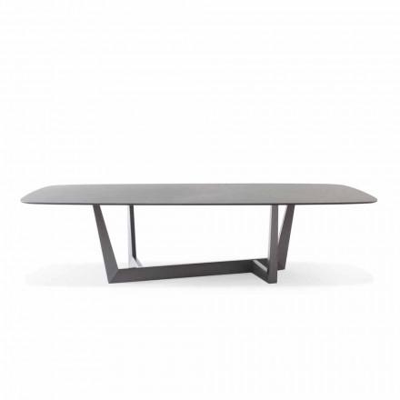 Keramický a kovový olověný kuchyňský stůl vyrobený v Itálii - Art