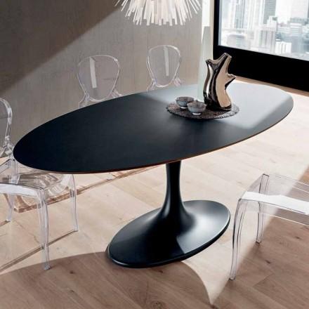 Kuchyňský stůl v provedení Fenix a lakovaný syntetický mramor vyrobený v Itálii - Brontolo