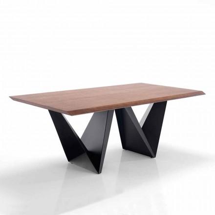 Moderní design jídelní stůl v Mdf a kovu - Helene