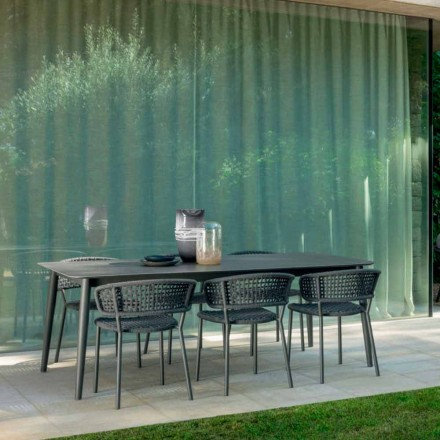Roztažitelný venkovní stůl až do 3 metrů Talenti Moon Alu v keramice