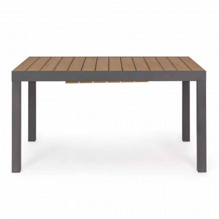 Roztažitelný venkovní stůl do 200 cm s povrchem Top in Teak - povrch Bobel