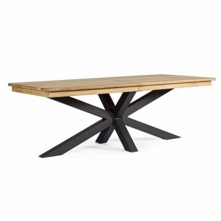 Roztažitelný venkovní stůl až do 300 cm v Teak Homemotion - Selenia