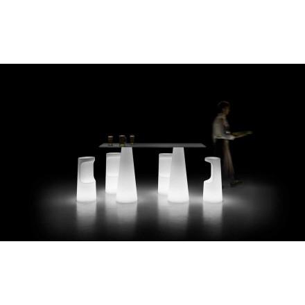 Moderní venkovní světelný stůl s LED světelnou základnou vyrobený v Itálii - Forlina