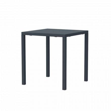 Moderní stohovatelný čtvercový kovový venkovní stůl vyrobený v Itálii - Aila