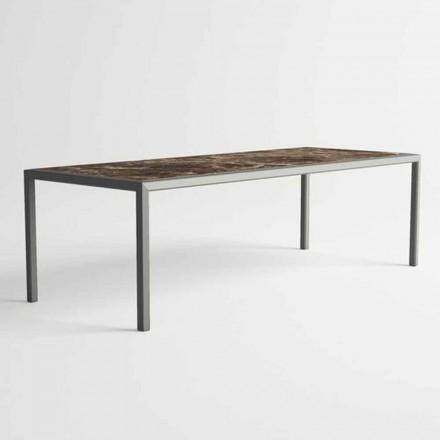 Venkovní stůl v hliníku moderního designu pro zahradu - Mississippi2