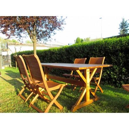 Rustikální styl jedle dřevěný stůl vyrobený v Itálii - Clinio