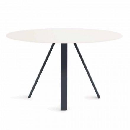 Kulatý kovový a HPL venkovní stůl vyrobený v Itálii - Conrad