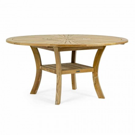 Teakový venkovní stůl s otočnou střední deskou, Homemotion - Dimitris