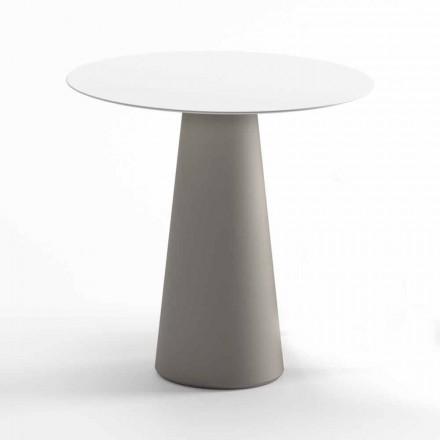 Moderní venkovní stůl z HPL a neprůhledného polyethylenu vyrobený v Itálii - Forlina