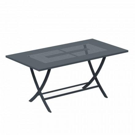 Skládací venkovní stůl v moderním lakovaném kovu vyrobeném v Itálii - Doria