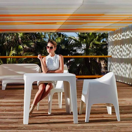 Venkovní čtvercový stůl Solid by Vondom v polypropylenu, moderní design, 4 kusy