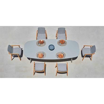 Varaschin Ellisse design venkovní stůl v barevném hliníku