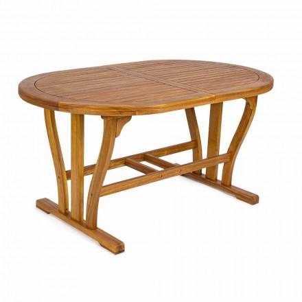 Rozkládací zahradní stůl do oválu 200 cm ve dřevě - Roxen