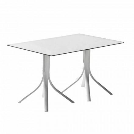 Luxusní zahradní stůl v hliníkové a bílé barvě Hpl nebo Gunmetal - Filomena