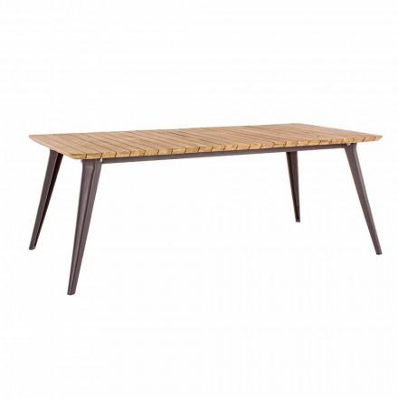 Zahradní stůl z teakového dřeva a Homemotion Aluminium Base - Amabel