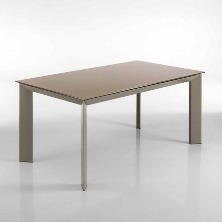 Jídelní stůl rozšiřitelný holubice šedá Pardo, H76 x90 X160 (220) cm