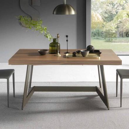 Rozkládací jídelní stůl do 160 cm ve dřevě Made in Italy - Eugenia