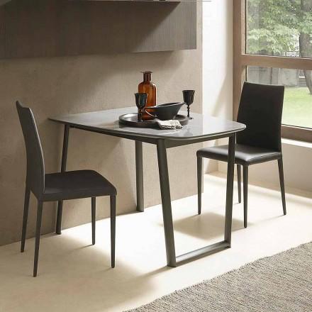 Roztažitelný jídelní stůl až do 170 cm v keramice vyrobené v Itálii - Tremiti