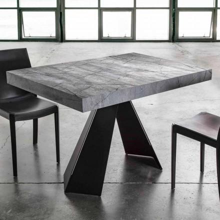 Roztažitelný jídelní stůl až 220 cm s melaminovou deskou - Amiro