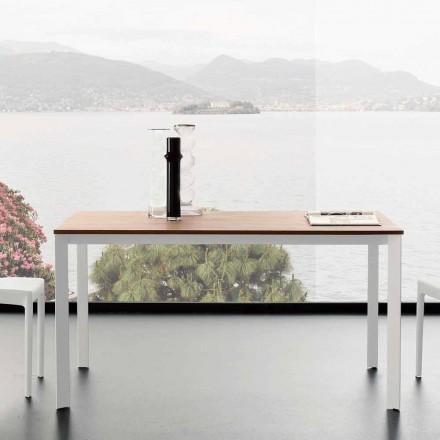 Roztažitelný jídelní stůl až do 230 cm v melaminu vyrobený v Itálii - platina