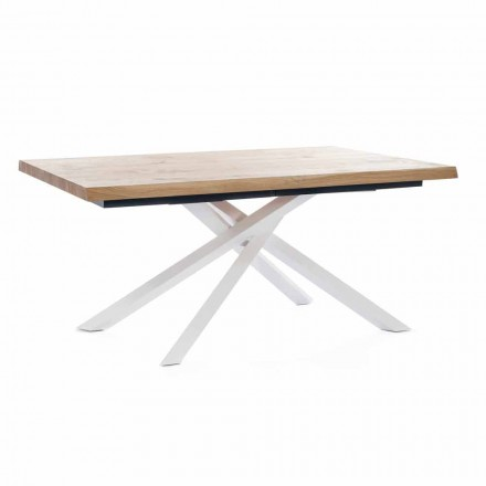 Rozkládací jídelní stůl do 240 cm ve dřevě Vyrobeno v Itálii - Xino