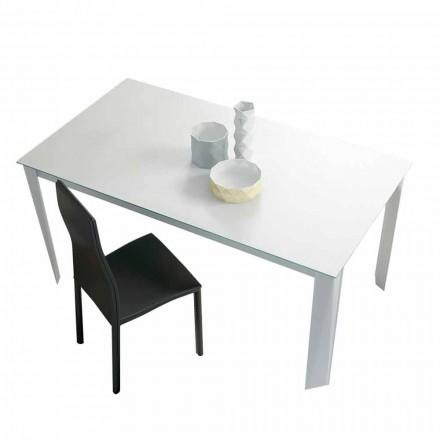 Roztažitelný jídelní stůl až 250 cm v matném skle vyrobený v Itálii - Namiba