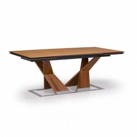 Roztažitelný jídelní stůl až do 294 cm ze dřeva vyrobeného v Itálii - Monique