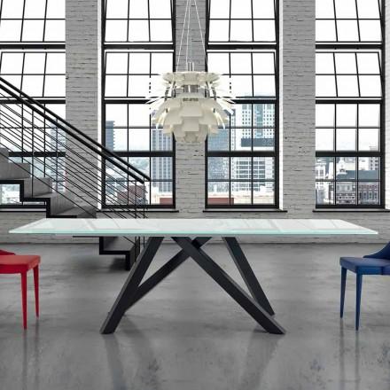 Rozkládací jídelní stůl ze skla do 300 cm Vyrobeno v Itálii - Settimmio