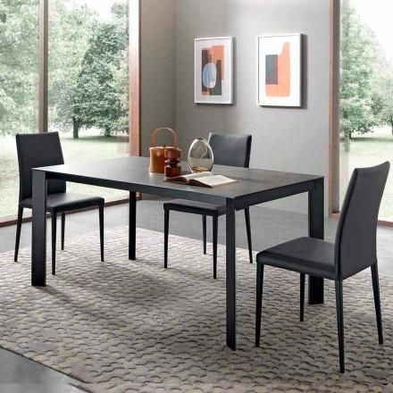 Roztažitelný jídelní stůl až do 310 cm v keramice vyrobené v Itálii - Pitagora