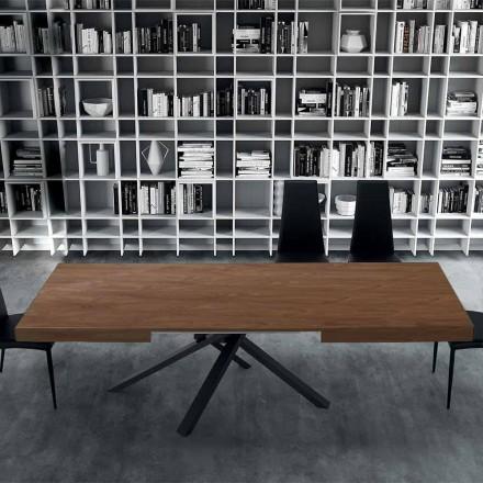Roztažitelný jídelní stůl do 310 cm ve dřevě a oceli - Argentario