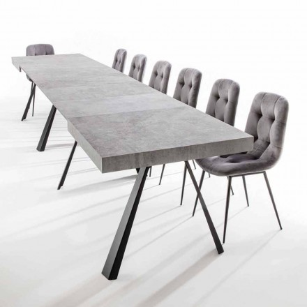 Roztažitelný jídelní stůl až 500 cm s melaminovou deskou - Raimondo