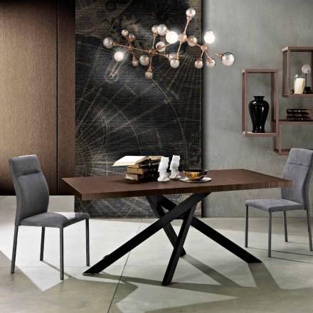 Rozšiřitelný jídelní stůl z melaminového dřeva vyrobeného v Itálii, Dionigi