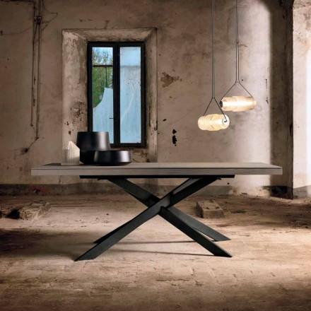 Rozkládací jídelní stůl z dubového dřeva L315cm vyrobený v Itálii Oncino