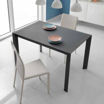 jídelní stůl skleněný stůl a kov Oddo