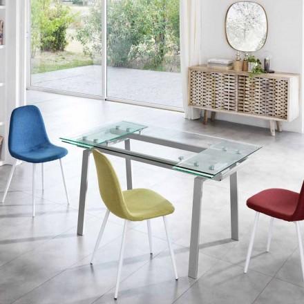 moderní skleněné jídelní stůl rozšiřitelný, W140 / D80 cm 200x, Nardo