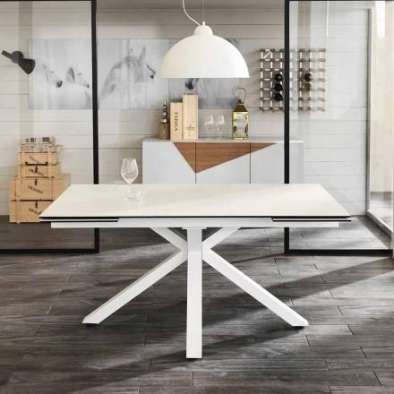 Jídelní sklo-keramické prodloužení stolu, L.160 / 240xp.90 cm, Bacchus