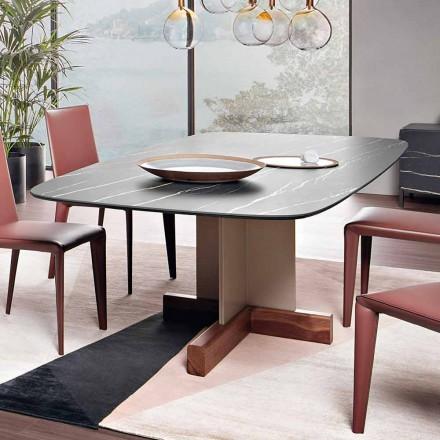 Jídelní stůl s keramickou deskou vyrobené v Itálii - křížový stůl Bonaldo
