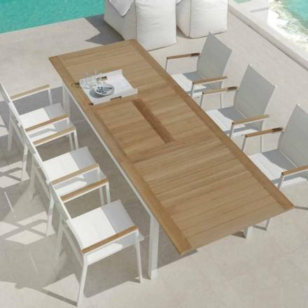 Rozkládací jídelní stůl z dřeva z teakového dřeva