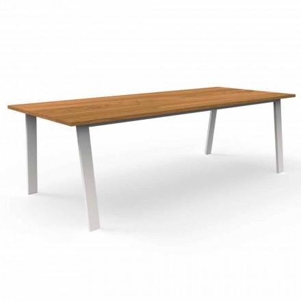 Zahradní jídelní stůl ze dřeva a hliníku Iroko - Cottage od Talenti