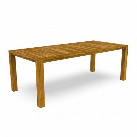 Moderní zahradní jídelní stůl z kaštanového dřeva - Ebi od Talenti