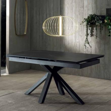 Roztažitelný jídelní stůl designu s keramickou deskou až 240 cm - Ultron