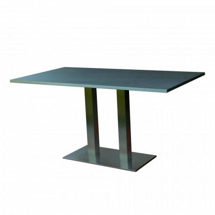 Designový jídelní stůl s laminovaným kamenem, 160x90cm, Newman